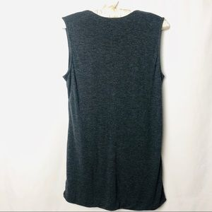 CAbi Tops - Cabi Swoop Neck Line Sleeveless Rayon Blouse M